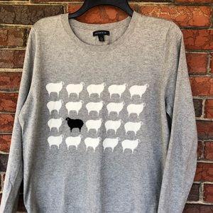 Lands End Animal Print Sweater
